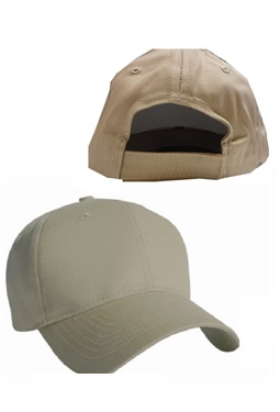 KC Caps 6 Panel Constructed Cotton Twill Cap