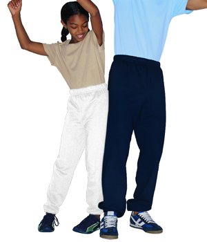 Jerzees Youth 8.0 Ounce NuBlend  50/50 Cotton/Poly Pre-Shrunk Sweatpants