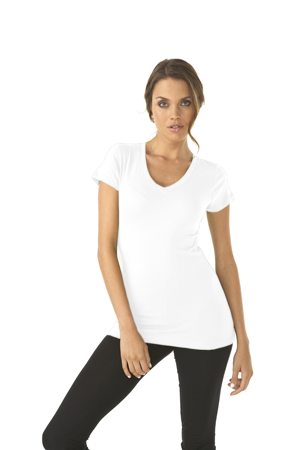 Next Level Ladies 4.0 Ounce Perfect Sporty V-Neck T-Shirt